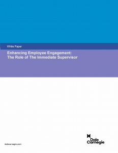 Enhancing Employee Engagement: The Role of The Immediate Supervisor