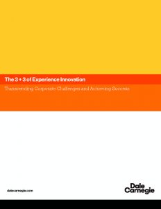 The 3 + 3 of Experience Innovation